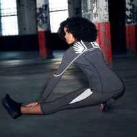 Sportfx Дамски Клин Relective Leggings Ladies Grey Дамски клинове за фитнес