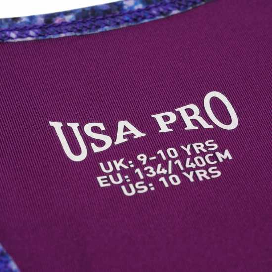 Workwear Usa Pro Fitness Crop Top Junior Girls Bright June 1 Дамски спортни сутиени