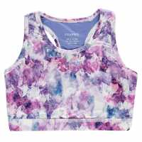Workwear Usa Pro Fitness Crop Top Junior Girls Purple Crystal Спортни сутиени