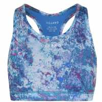 Workwear Usa Pro Fitness Crop Top Junior Girls Paint Splat Спортни сутиени