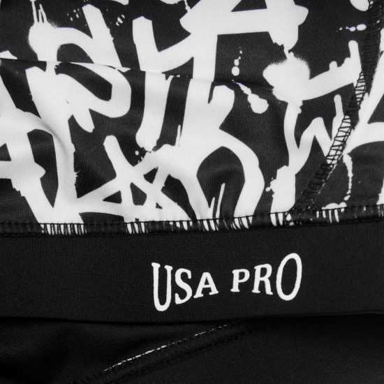 Workwear Usa Pro Fitness Crop Top Junior Girls Mono Grafitti Дамски спортни сутиени