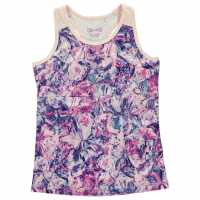 Usa Pro Tight Tank Top Junior Girls Abstract Floral Детски потници