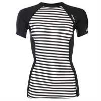 Oneill Дамски Потник Base Rash Vest Ladies White Воден спорт