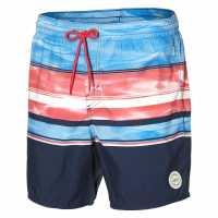 Oneill Мъжки Бермуди Long Beach Board Shorts Mens Blue AOP/Pink Мъжки къси панталони