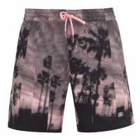 Oneill Мъжки Плувни Шорти Bondey Swim Shorts Mens Pink AOP Мъжки плувни шорти и клинове