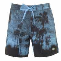 Oneill Мъжки Плувни Шорти Bondey Swim Shorts Mens Blue AOP Мъжки къси панталони