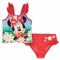 Character Екип Невръстни Момиченца Swimsuit Infant Girls Minnie 2pc Детски бански и бикини