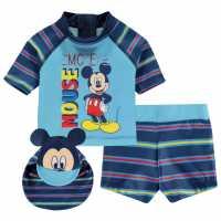 Character 3 Piece Swim Set Baby Disney Mickey Детски бански и бикини