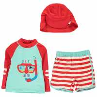 Crafted 2 Piece Sun Safe Suit Child Boys See Ya Later Бебешки дрехи