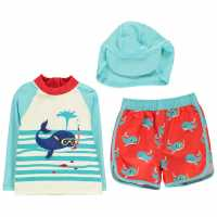 Crafted 2 Piece Swim Set Child Boys Whale Бебешки дрехи