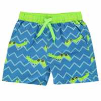 Crafted Board Shorts Childrens Crocodile Детско плувно облекло