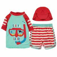 Crafted Essentials 2 Piece Swim Set Child Boys 3Pc SeeYa Later Бебешки дрехи