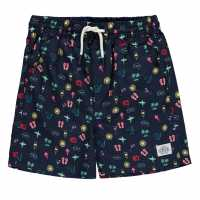 Hot Tuna Момчешки Къси Гащи Swim Shorts Junior Boys Scatter Print Детски бански и бикини