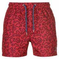 Pierre Cardin Мъжки Плувни Шорти Aop Swim Shorts Mens Red Anchor Мъжки плувни шорти и клинове