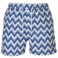 Pierre Cardin Мъжки Плувни Шорти Aop Swim Shorts Mens Blue Zig Zag Мъжки плувни шорти и клинове
