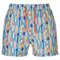 Pierre Cardin Мъжки Плувни Шорти Aop Swim Shorts Mens Lt Blue Surf Мъжки плувни шорти и клинове