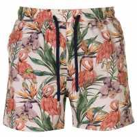 Pierre Cardin Мъжки Шорти Tropical Swimshorts Mens Stone AOP Мъжки плувни шорти и клинове