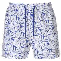 Pierre Cardin Мъжки Шорти Tropical Swimshorts Mens Blue/White AOP Мъжки плувни шорти и клинове