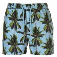 Pierre Cardin Мъжки Шорти Tropical Swimshorts Mens Light Blue Мъжки плувни шорти и клинове