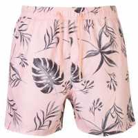 Pierre Cardin Мъжки Плувни Шорти Print Swim Shorts Mens Pink Palm Мъжки плувни шорти и клинове