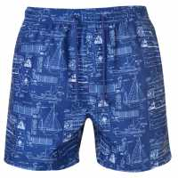 Pierre Cardin Мъжки Плувни Шорти Print Swim Shorts Mens Blue Ship Мъжки плувни шорти и клинове