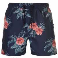 Pierre Cardin Мъжки Плувни Шорти Print Swim Shorts Mens Navy Tropical Мъжки плувни шорти и клинове