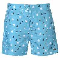 Pierre Cardin Мъжки Плувни Шорти Mix Swim Shorts Mens Teal Boats Мъжки плувни шорти и клинове