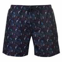 Soviet Paisley Swim Shorts Navy Мъжки плувни шорти и клинове