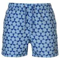 Pierre Cardin Мъжки Плувни Шорти Geo Swim Shorts Mens Lt Turq/Blue Мъжки плувни шорти и клинове