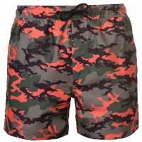 Pierre Cardin Мъжки Плувни Шорти Camo Swim Shorts Mens Red Camo Мъжки плувни шорти и клинове