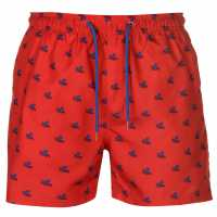 Pierre Cardin Мъжки Плувни Шорти Sea Aop Swim Shorts Mens Red Octopus Мъжки плувни шорти и клинове