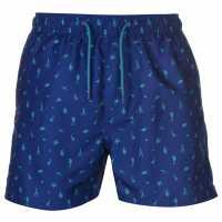 Pierre Cardin Мъжки Плувни Шорти Sea Aop Swim Shorts Mens Royal Sealife Мъжки плувни шорти и клинове