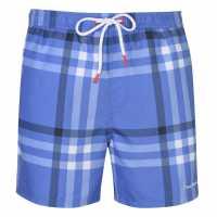 Pierre Cardin Мъжки Плувни Шорти Checked Swim Shorts Mens Blue/Wht Check Мъжки плувни шорти и клинове