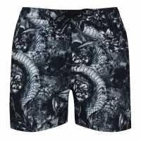 Firetrap Swim Shorts Navy Flwr Skll Мъжко облекло за едри хора