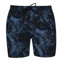 Sale Firetrap Swim Shorts Blue Flwr Skll Мъжко облекло за едри хора