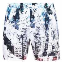 Firetrap Swim Shorts Multi Texture Мъжко облекло за едри хора