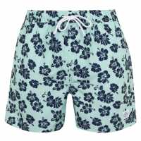 Hot Tuna Мъжки Шорти Printed Shorts Mens Aqua/Blue Мъжко облекло за едри хора
