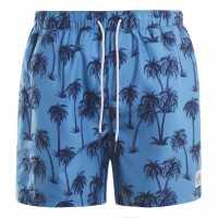 Hot Tuna Мъжки Шорти Printed Shorts Mens Blue Palms Мъжко облекло за едри хора