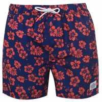 Hot Tuna Мъжки Шорти Printed Shorts Mens Blue/Pink Мъжко облекло за едри хора