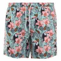 Hot Tuna Мъжки Шорти Printed Shorts Mens Toucan Мъжко облекло за едри хора