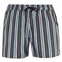 Soulcal Мъжки Плувни Шорти Print Swim Shorts Mens Nvy/Wht Stripe Мъжки плувни шорти и клинове