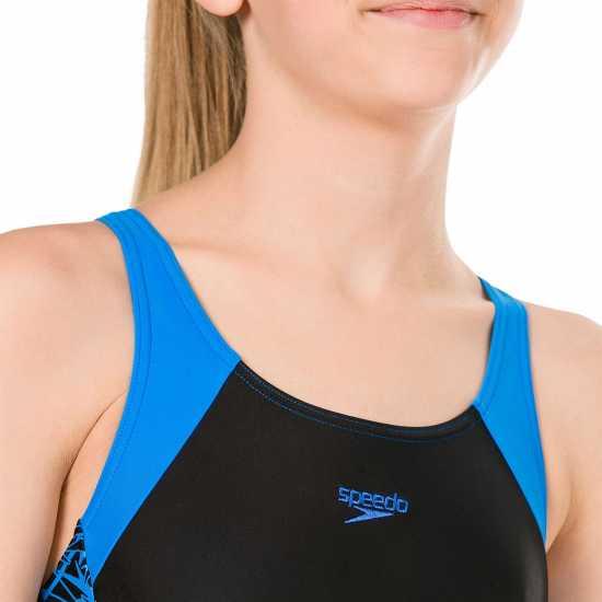 Speedo Бански Костюм Момиче Boom Swimsuit Junior Girls Black/Blue Детски бански и бикини