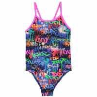 Zoggs Бански Костюм Момиче Saber Swimsuit Junior Girls Multi Детски бански и бикини