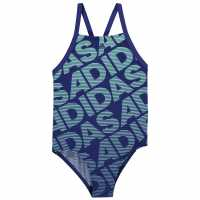 Adidas Бански Костюм Момиче Performance Swimsuit Junior Girls Black Детски бански и бикини
