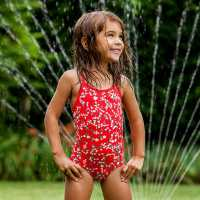 Funkita Dasiy Chain 1 Piece Infants Swimsuit Red/White Детски бански и бикини