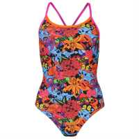 Zoggs Pop Fish Triback Swimming Costume Ladies Multi Дамски бански