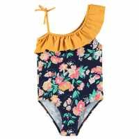 Soulcal Бански Костюм Момиче Swimsuit Junior Girls Ochre Floral Детски бански и бикини