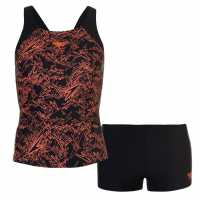 Speedo Boom Tankini Ladies Black/Orange Дамски бански