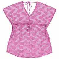 Soulcal Mesh Kaftan Ladies Pink Дамски поли и рокли