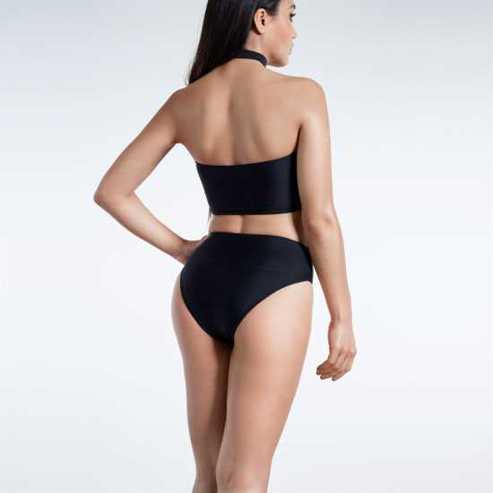 Golddigga Дамско Долнище На Бански Choker Bikini Bottoms Ladies Black Дамски бански
